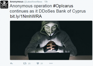 Tweet from Anonymouys