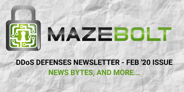 DDoS defenses monthly newsletter