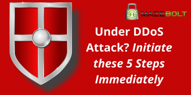 under ddos attack, take these steps